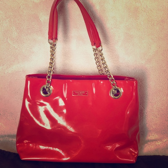 b6a839c3840d kate spade Handbags - Kate Spade Patent Leather Helena Bag Red